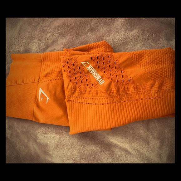 84ca7a2c331cb Gymshark Pants - Gymshark Flawless Knit Leggings - Burnt Orange
